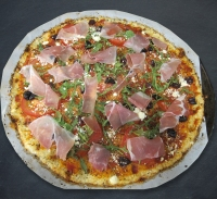 top with prosciutto