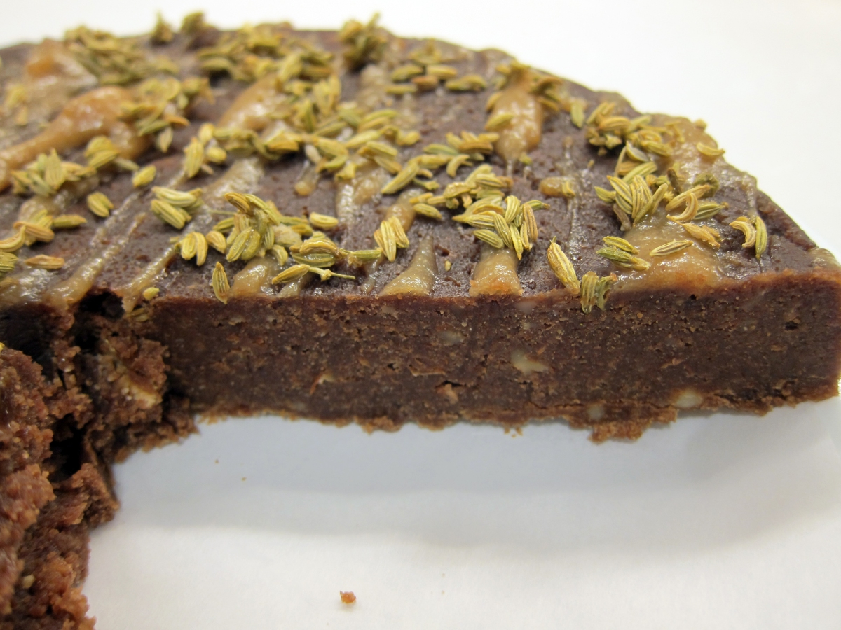 Chocolate Nut and Fennel Cake